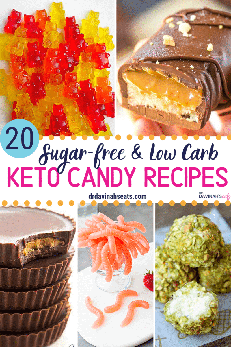 Pinterest image for Keto Candy Recipes