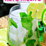Pinterest image for Keto Mojito