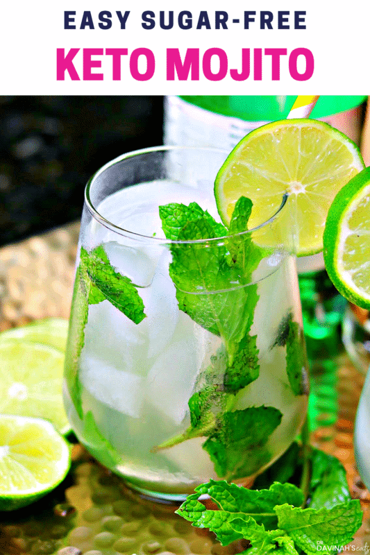 Pinterest image for Skinny Mojito