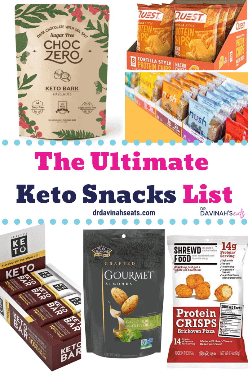 An image for a list of the Ultimate Keto Snacks