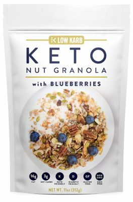 Keto Nut Granola w/ Blueberries