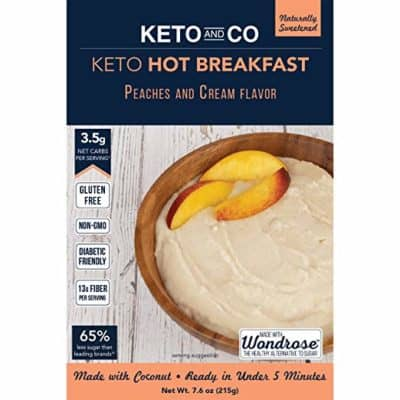 Keto Hot Breakfast Peaches & Cream
