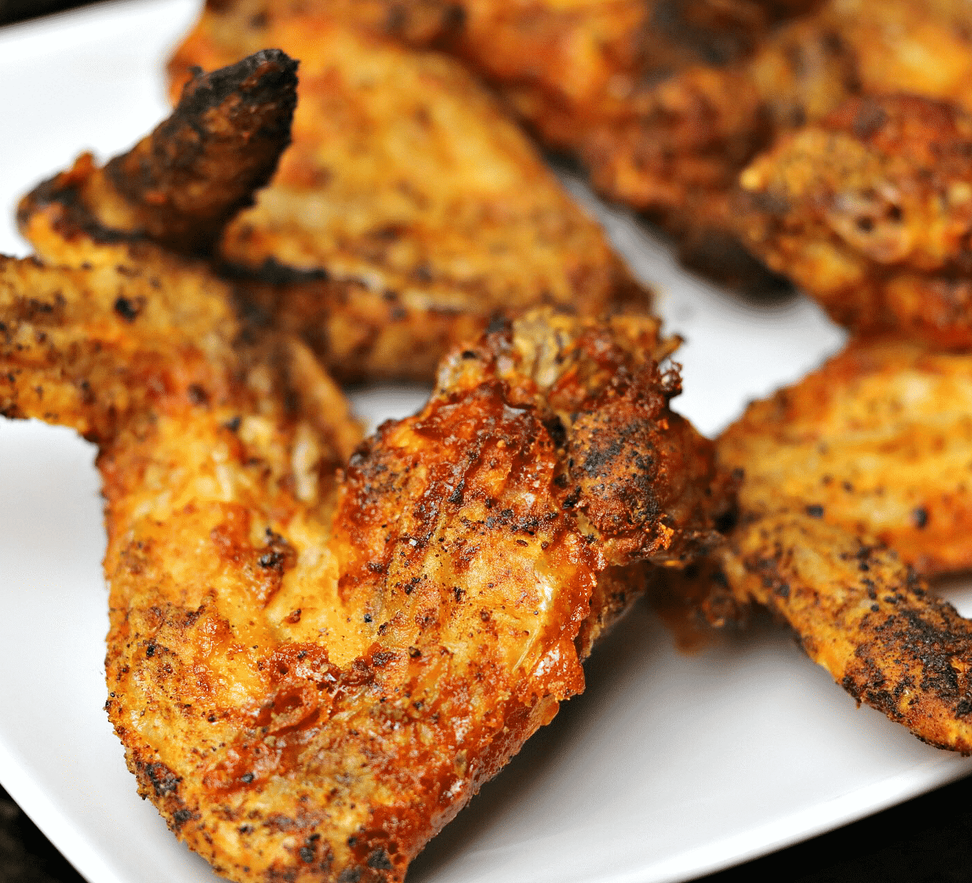 Air Fryer Chicken Wings on a plate