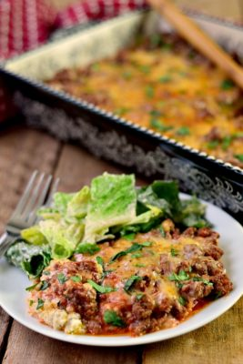Low Carb Ground Beef Italian Bake