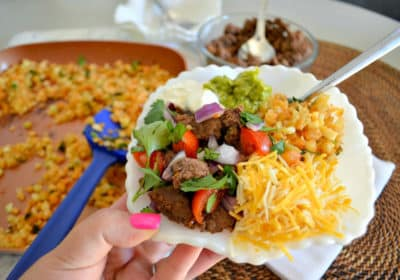 Keto Mexican Burrito Bowl served and ready to eat