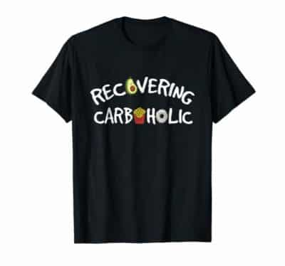 Recovering Carboholic t-shirt