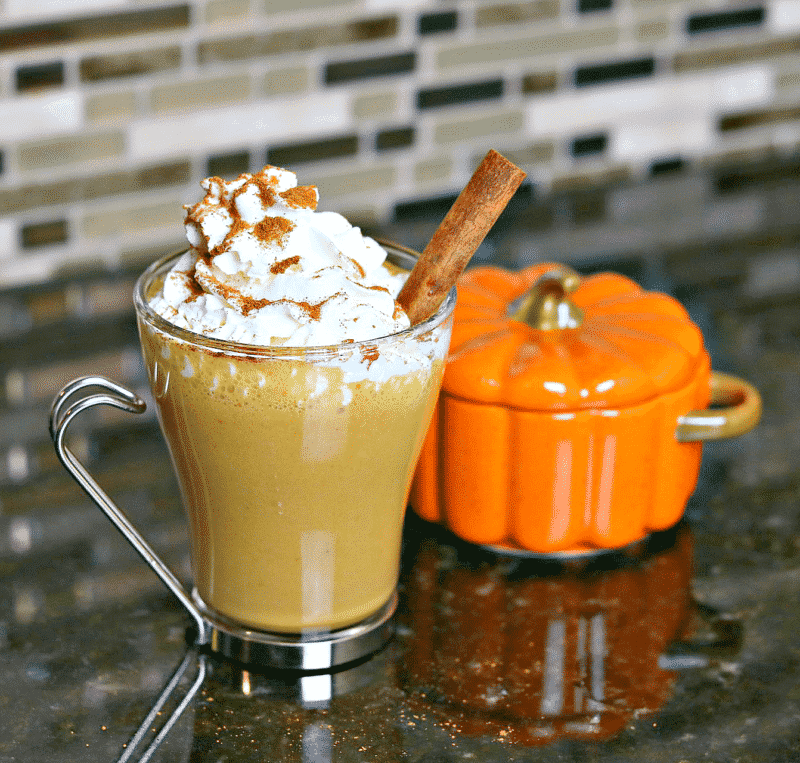 Keto Pumpkin Spice Latte in a glass