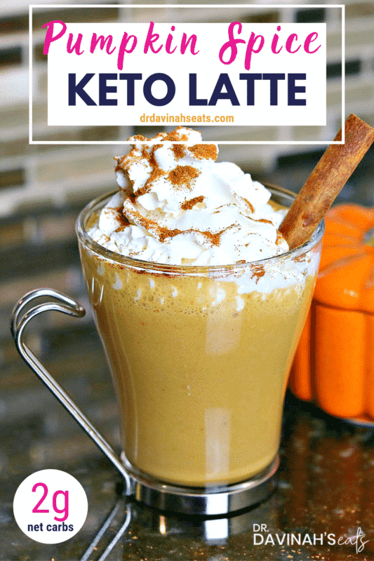 Pinterest image for Keto Pumpkin Spice Latte