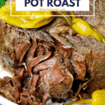 Pinterest image for Pressure Cooker Pot Roast