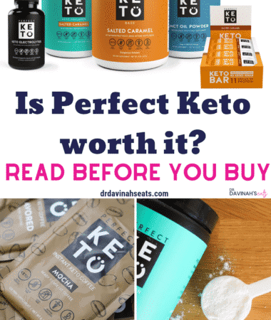 Pinterest image for this Perfect Keto Review
