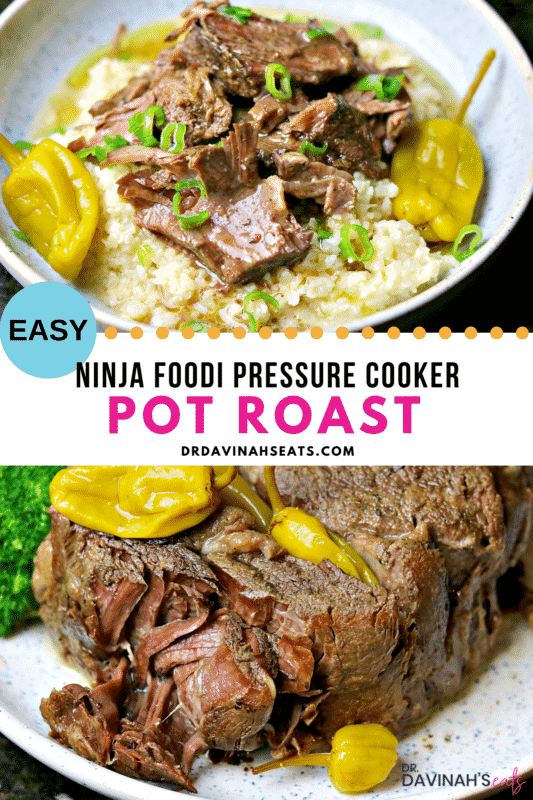 Pinterest image for Ninja Foodi Roast recipe