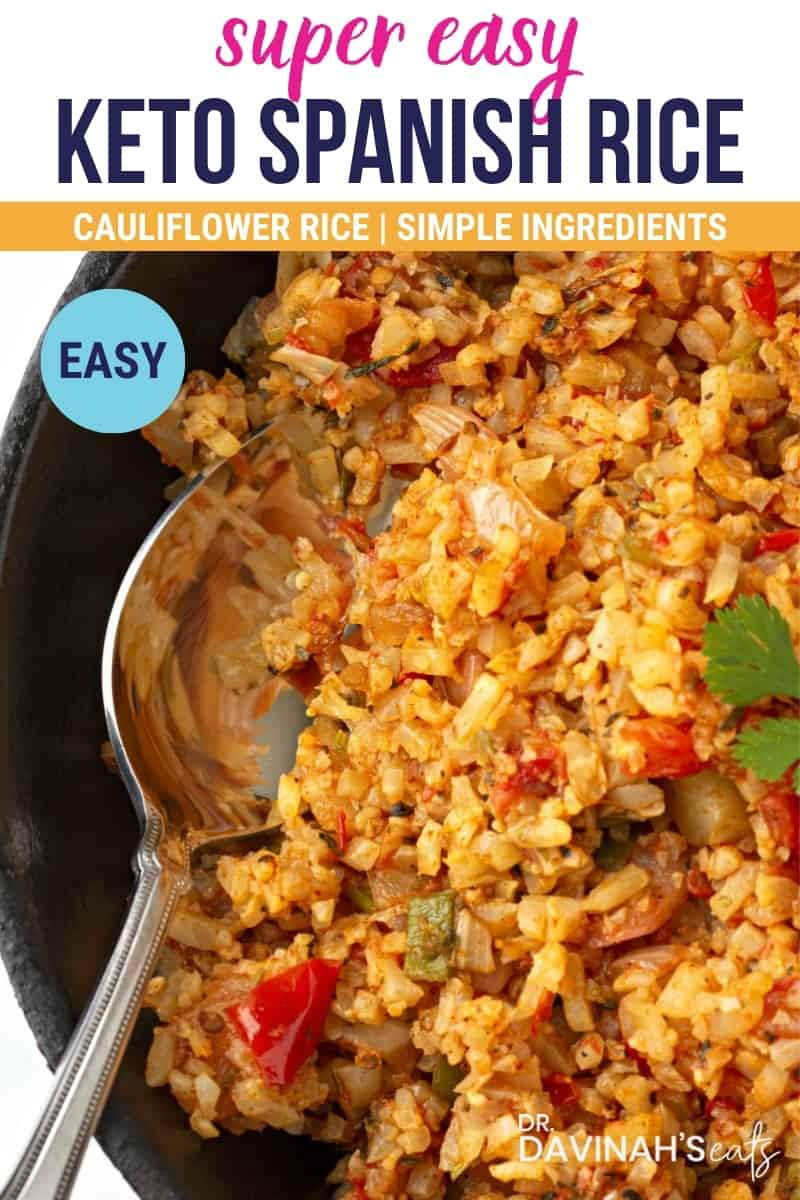 Keto Spanish Mexican Cauliflower Rice recipe
