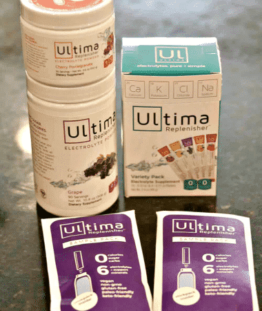 Ultima Replenisher on a counter
