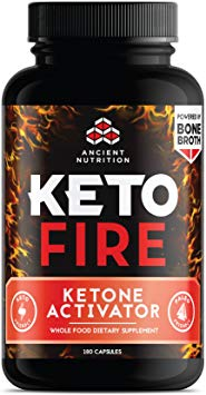 A bottle of Keto Fire supplements