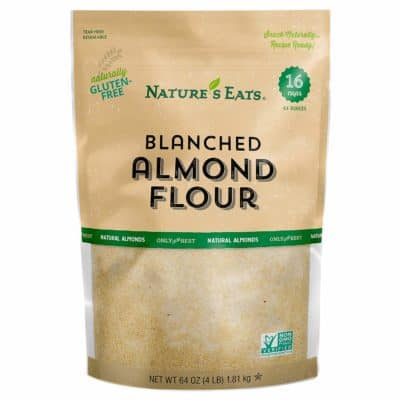 A bag of Nature's Eats Blanched Almond Flour