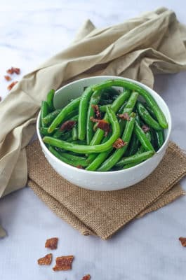 Green Beans & Bacon In A Bowl