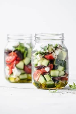 Greek Salad Meal Prep Jars