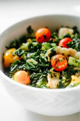 Collard Greens & Tomato Salad In A Bowl