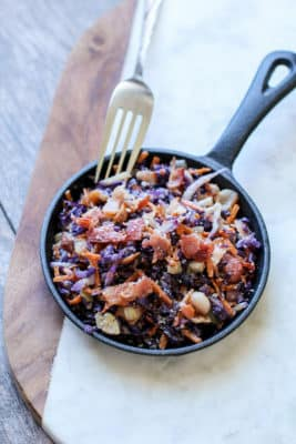 Fried Cabbage & Bacon Salad In A Pan