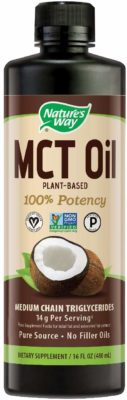 A bottle of Nature's Way MCT Oil