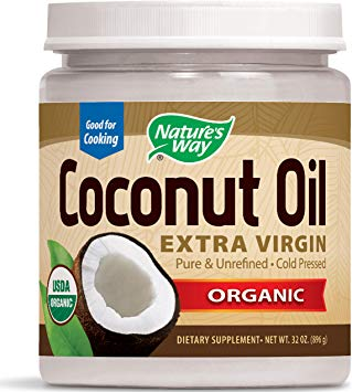 A jar of Nature's Way Coconut Oil