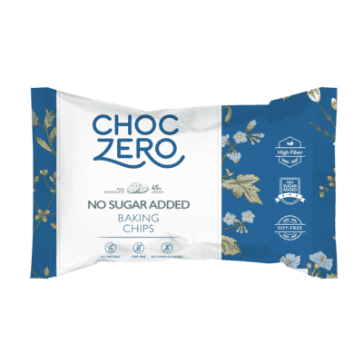 A bag of ChocZero Sugar Free Chocolate Chips