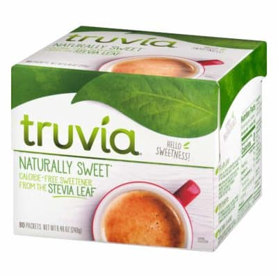 A box of Truvia sweetener - keto sweetener essentials