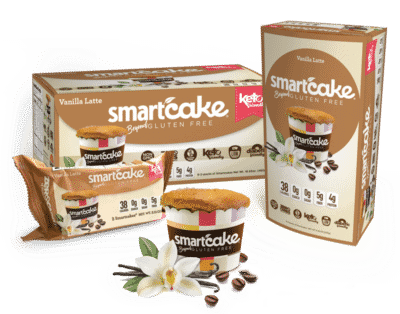 An assortment of Smart Cakes Keto friendly snacks
