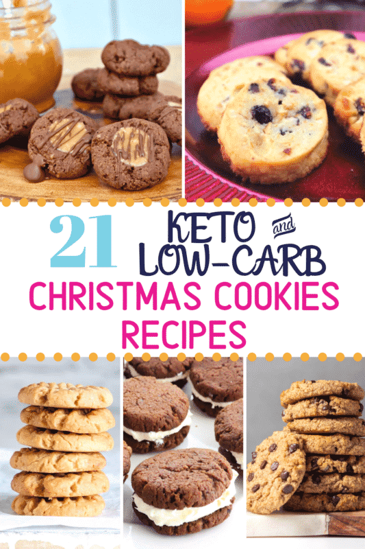 Pinterest image for Keto Christmas Cookies