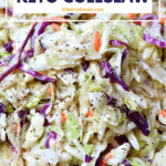 Pinterest image for Keto Coleslaw