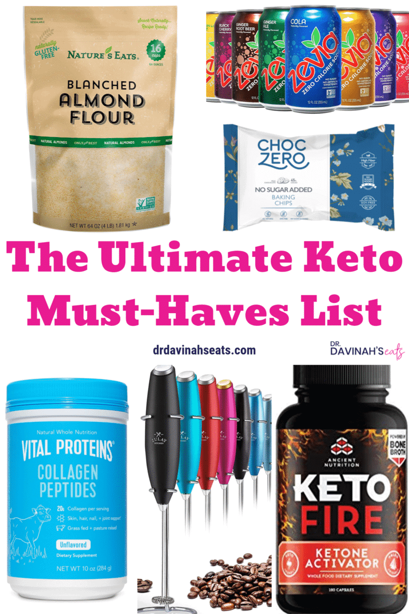 Keto Must-Haves Essentials List Pinterest image