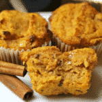 Keto Pumpkin Spice Muffins close-up