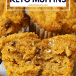 Pinterest image for Low Carb Pumpkin Muffins