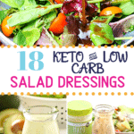 Pinterest image for Keto Salad Dressings