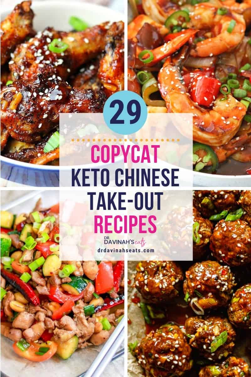 Copycat Low Carb Keto Chinese Food Recipes Dr Davinah S Eats