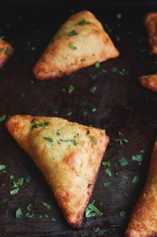Keto vegetables samosas