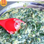 pinterest image for copycat creamed spinach