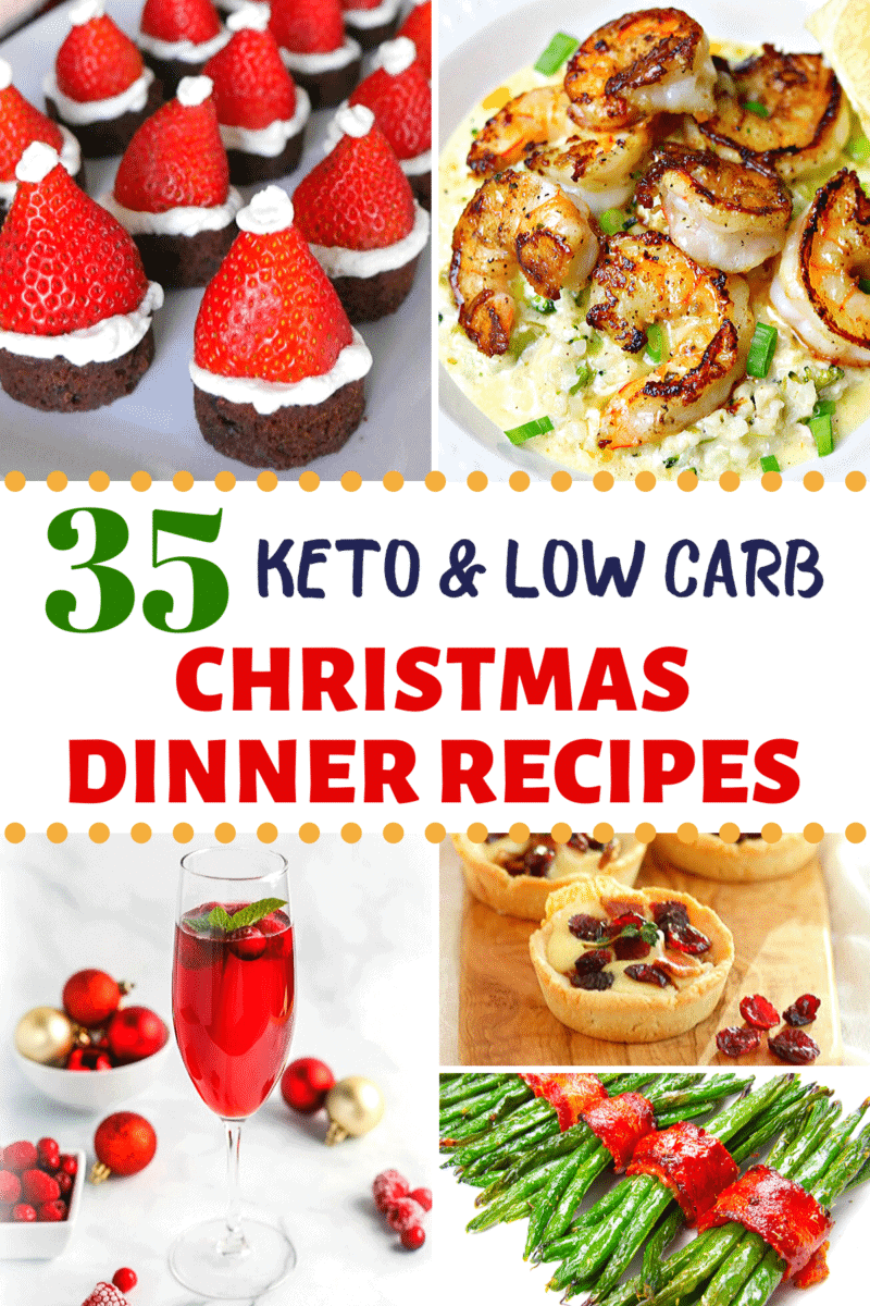 Keto Christmas Dinner Pinterest image