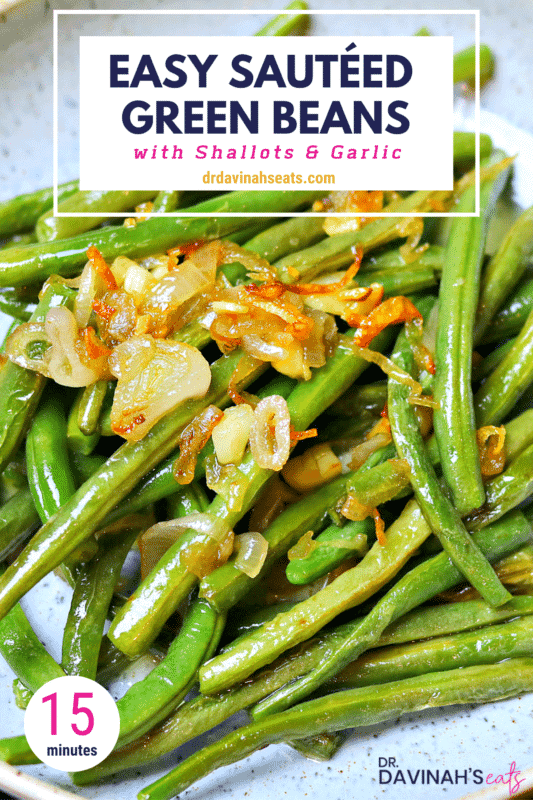 Pinterest image for Keto Sauteed Green Beans