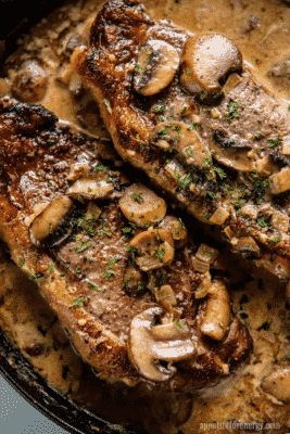 Keto Skillet Steak with Mushroom Sauce