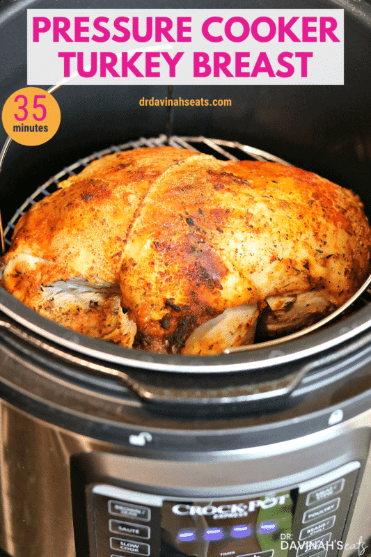 Pressure Cooker Turkey Breast recipe Pinterest image
