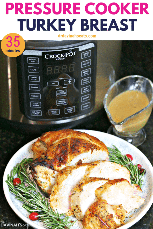 Pressure Cooker Turkey Breast Pinterest image