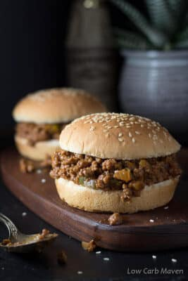 Homemade Low Carb Sloppy Joes
