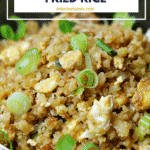 pinterest image for cauliflower fried rice recipe