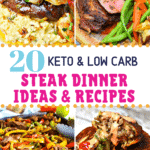 Pinterest image for Keto Steak Dinner Recipes