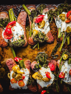 Roasted Broccolini And Sausage Sheet Pan Dinner