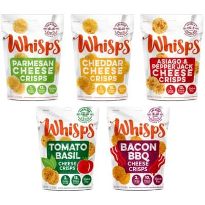 5 bags of Whisps 100% cheese crackers
