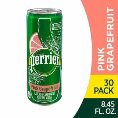 One can Pink Grapefruit Perrier Carbonated Mineral Water
