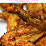 air fryer fried chicken wings Pinterest Image