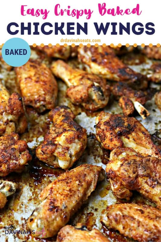 baked chicken wings pinterest image